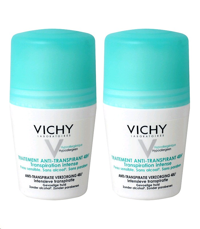VICHY DESODORANT  ANTI TRANSPIRANT ROLL ON 50MLX2