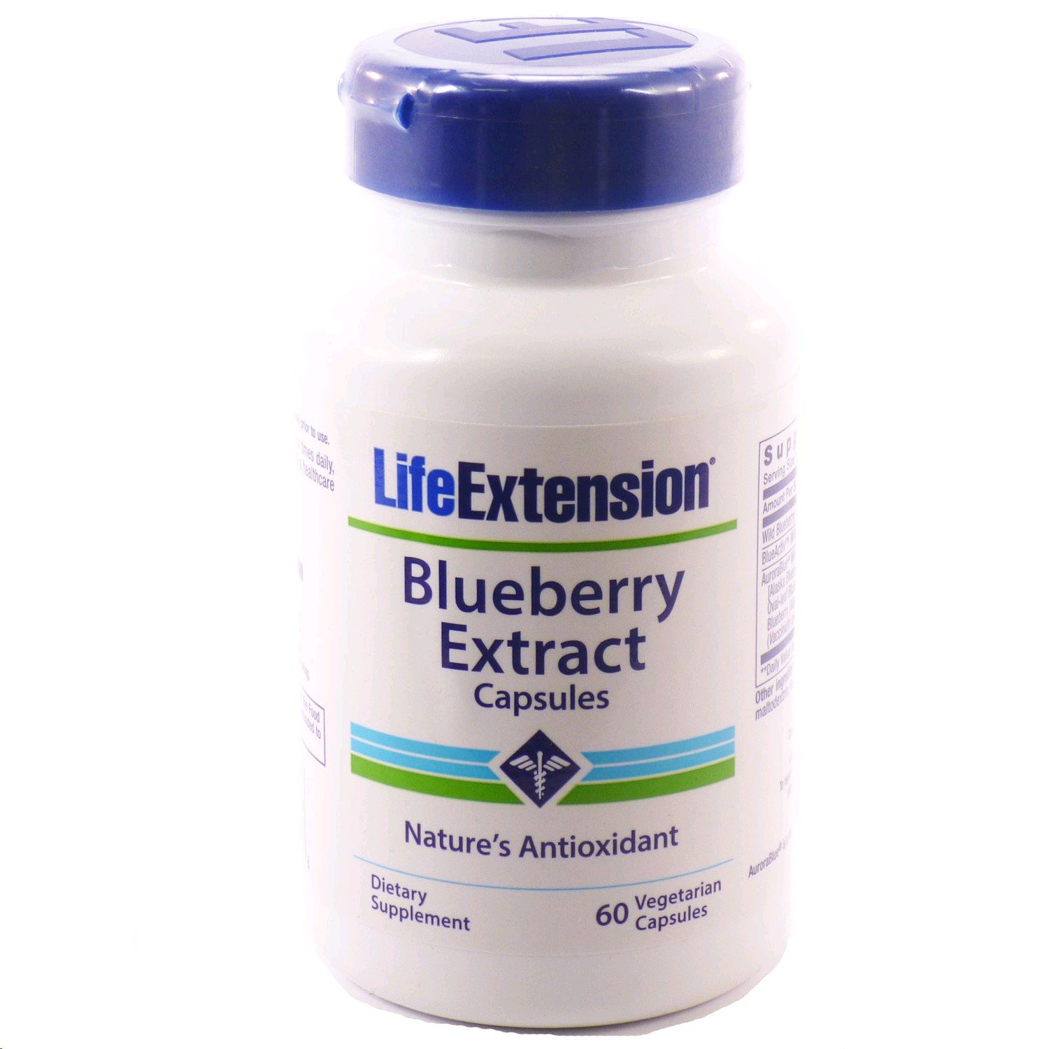 LIFE EXTENSION BLUEBERRY EXTRACT 60 CAPSULES