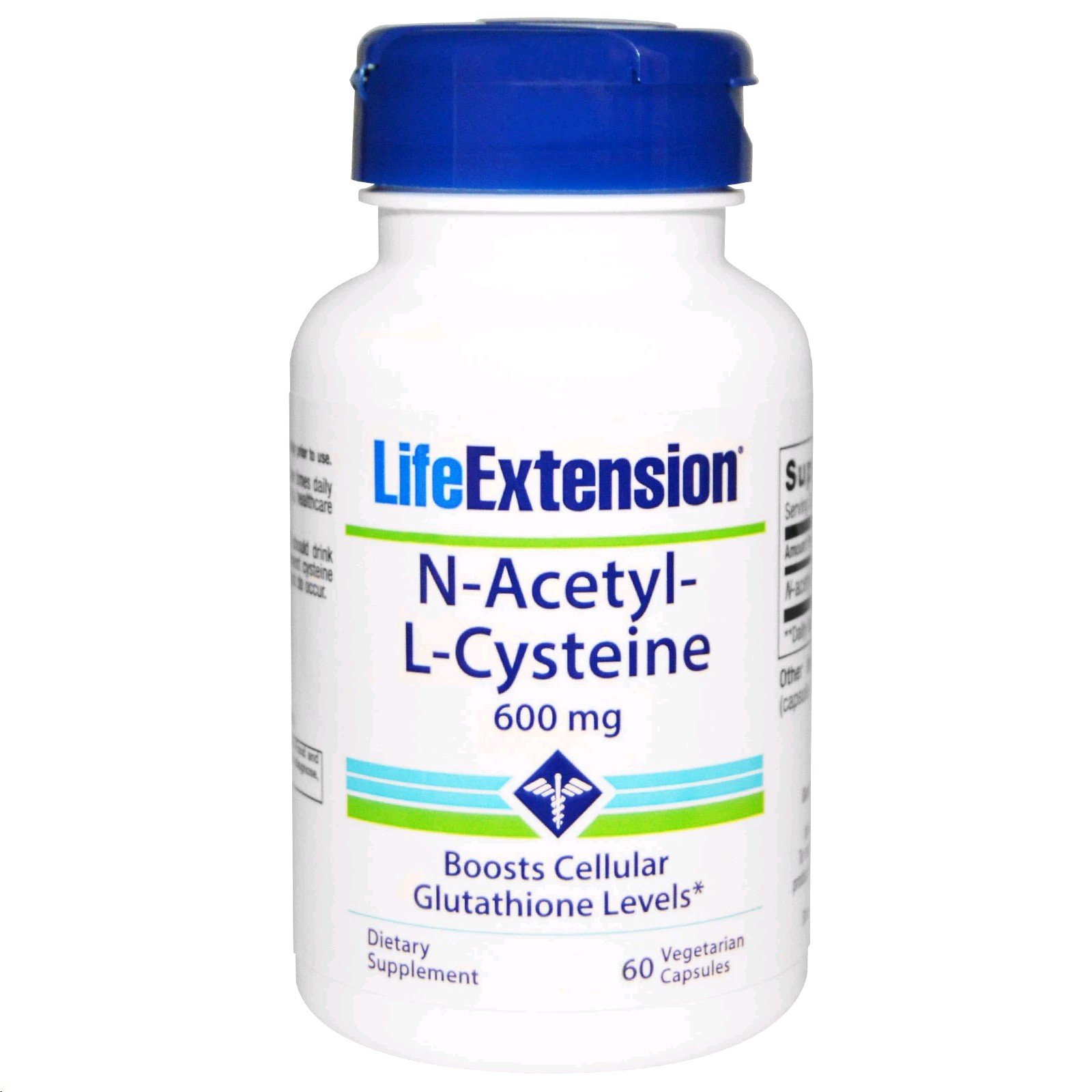 LIFE EXTENSION N-ACETYL L-CYSTEINA 600MG 60 CAPSULES
