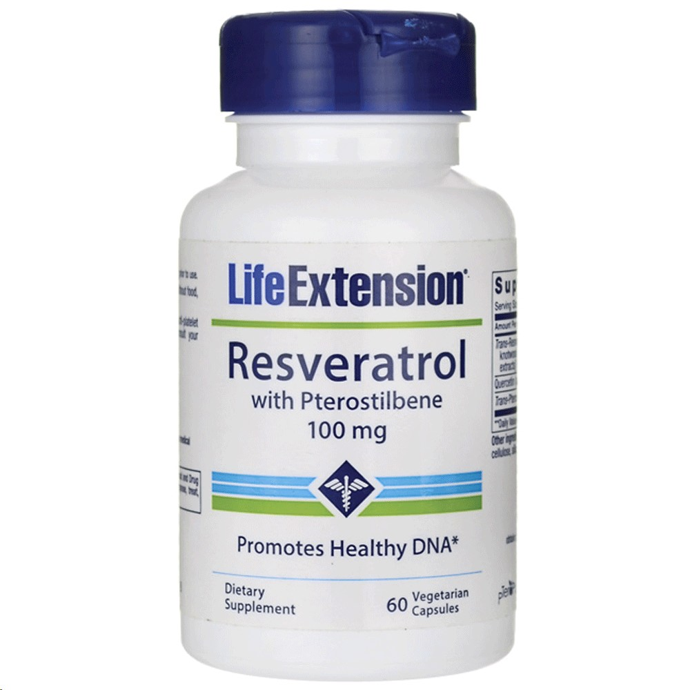 LIFE EXTENSION RESVERATROL 100 MG 60 CAPSULES