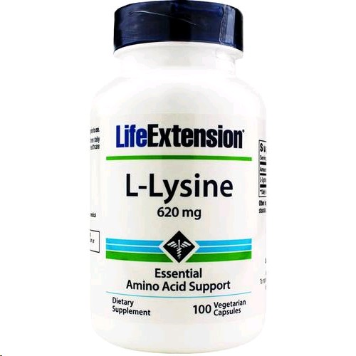 LIFE EXTENSION L-LYSINE 620MG 100 CAPSULES