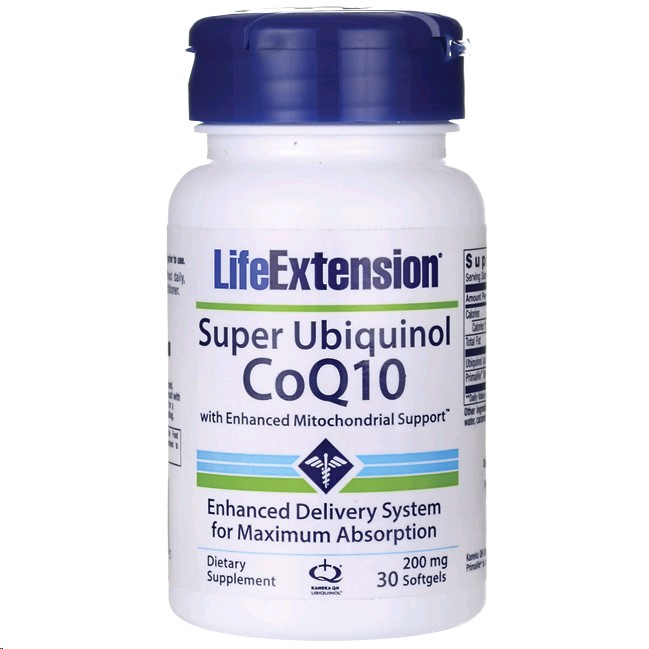 LIFE EXTENSION UBIQUINOL CoQ10 200MG 30 PERLES