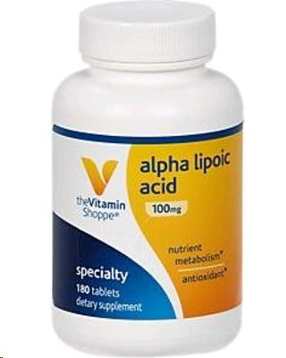 THE VITAMIN SHOPPE ALPHA LIPOIC ACID 100MG 120 TABLETES