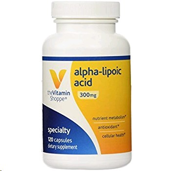 THE VITAMIN SHOPPE ALPHA LIPOIC ACID 300 MG 120 CAPSULES