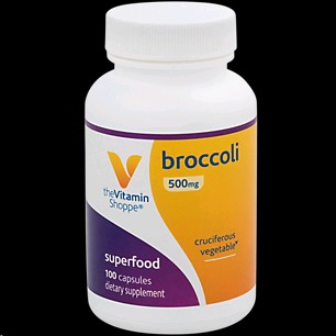 THE VITAMIN SHOPPE BROCCOLI 500MG 100 CAPSULES