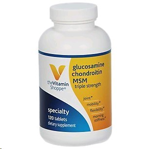 THE VITAMIN SHOPPE GLUCOSAMINE & CHONDROITIN WITH MSM 3X 120 TABLETES