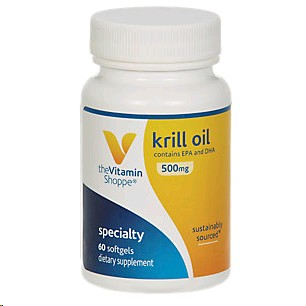 THE VITAMIN SHOPPE OLI DE KRILL 500MG 60 PERLES