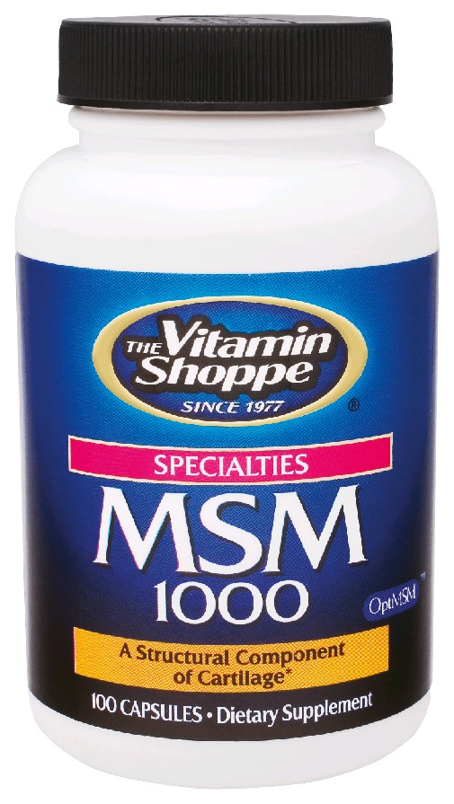 THE VITAMIN SHOPPE MSM 1000MG 100 CAPSULES