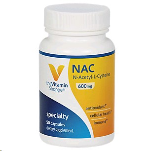 THE VITAMIN SHOPPE NAC (N ACETYL L CYSTEINE) 600MG 100 CAPSULES