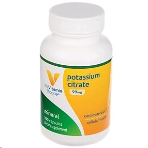 THE VITAMIN SHOPPE CITRAT DE POTASSI 99MG 100 CAPSULES