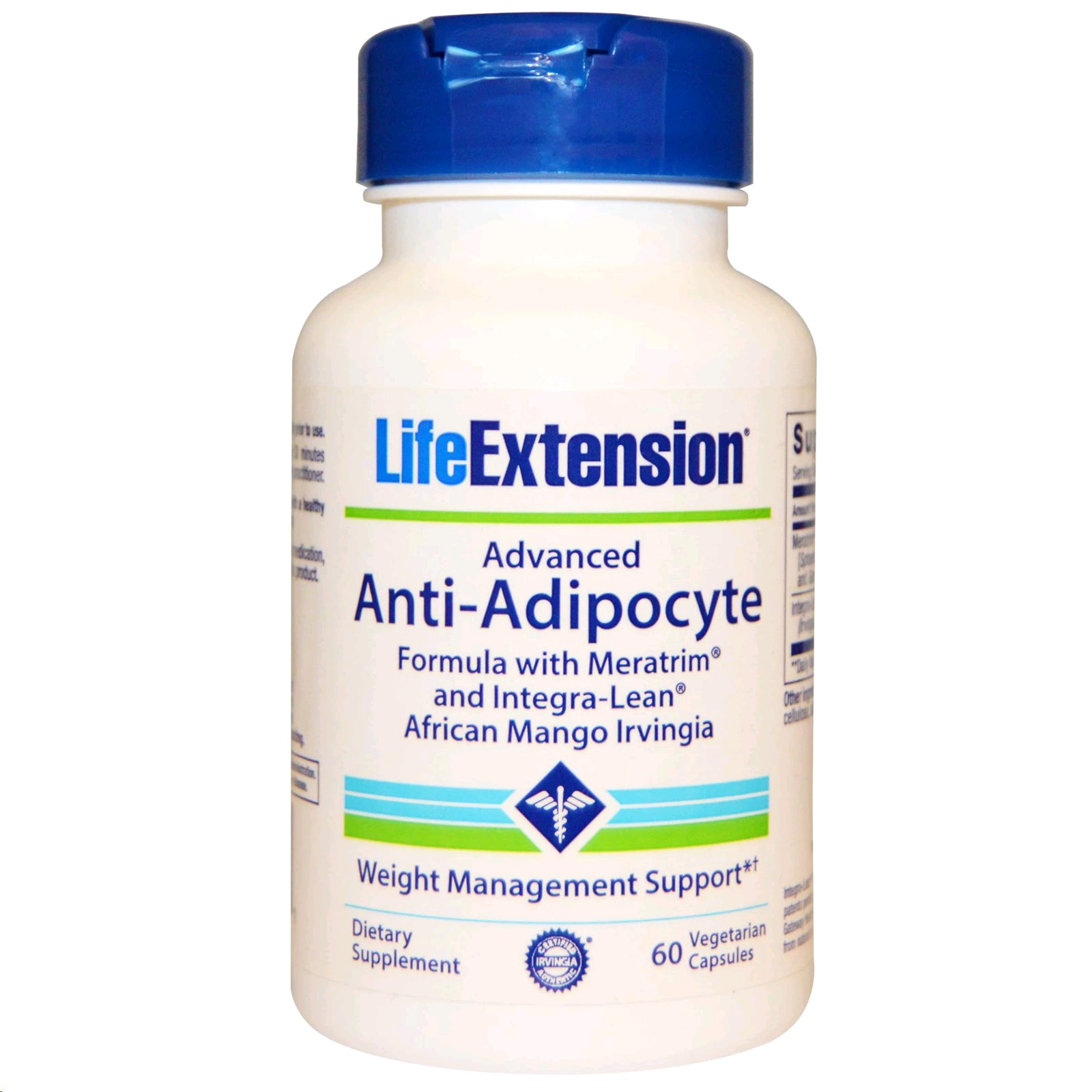 LIFE EXTENSION ADVANCED ANTI ADIPOCYTE FORMULA 60 CAPSULES