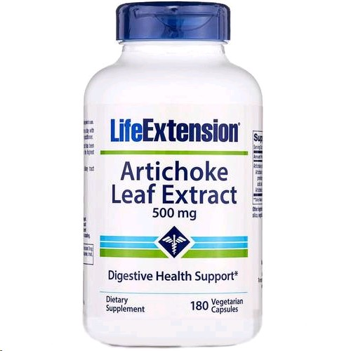 LIFE EXTENSION ARTICHOKE LEAF EXTRACT 500MG 180 CAPSULES