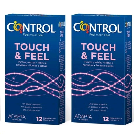 CONTROL TOUCH AND FEEL DUO 2X12 PRESERVATIUS