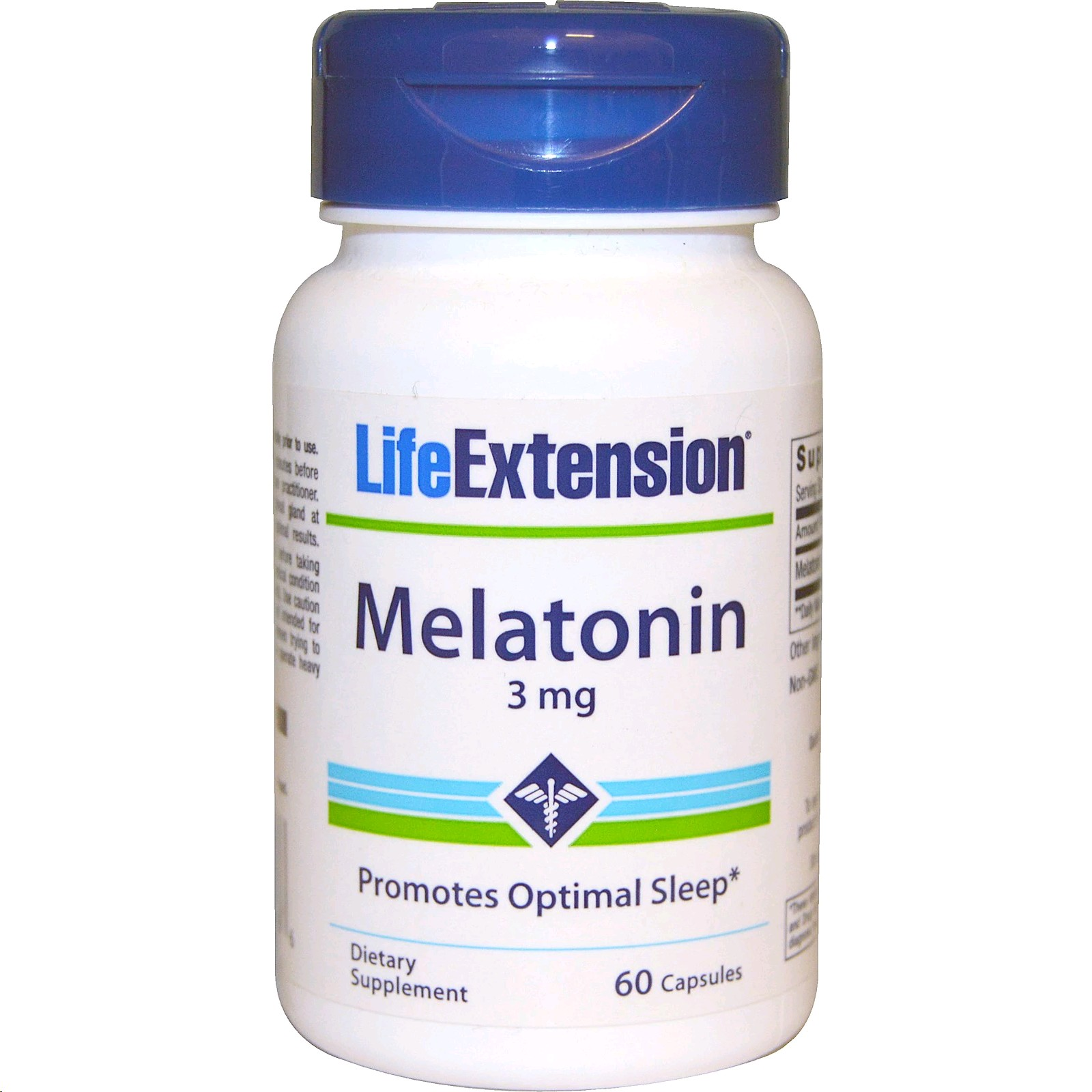 LIFE EXTENSION MELATONINA 3MG 60 CAPSULES
