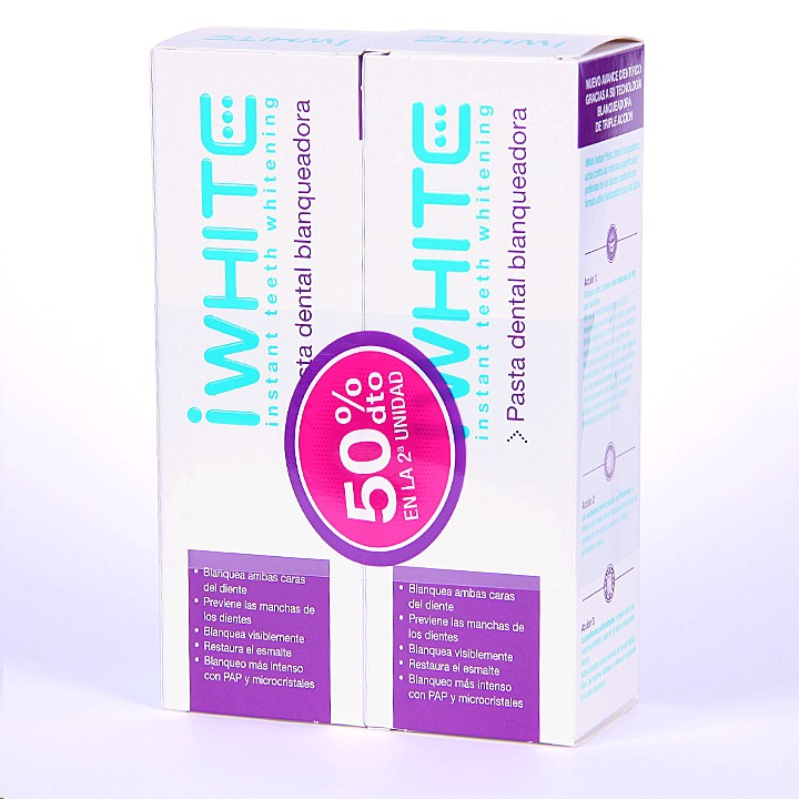 I WHITE PASTA DENTAL BLANQUEJADORA7 DUO 2X75ML