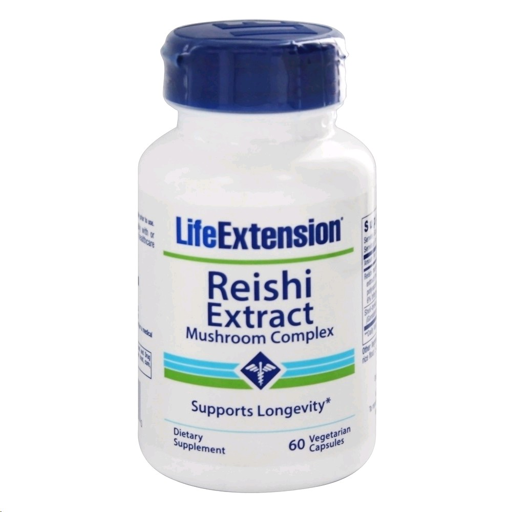 LIFE EXTENSION REISHI EXTRACT 60 PERLES