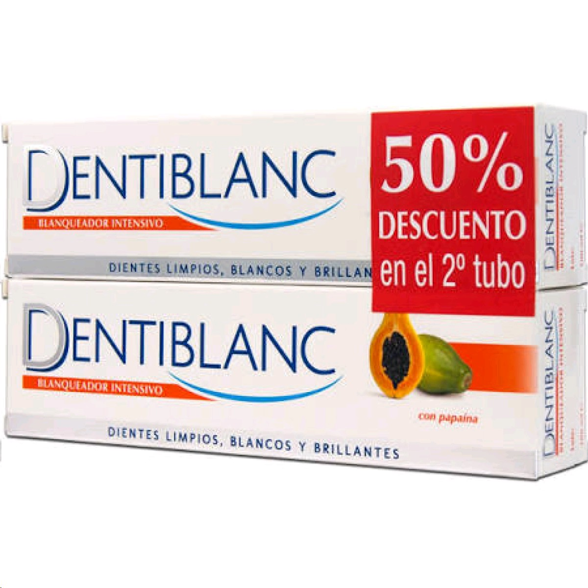 DENTIBLANC PASTA BLANQUEJADORA PAPAYA DUO 2X100ML