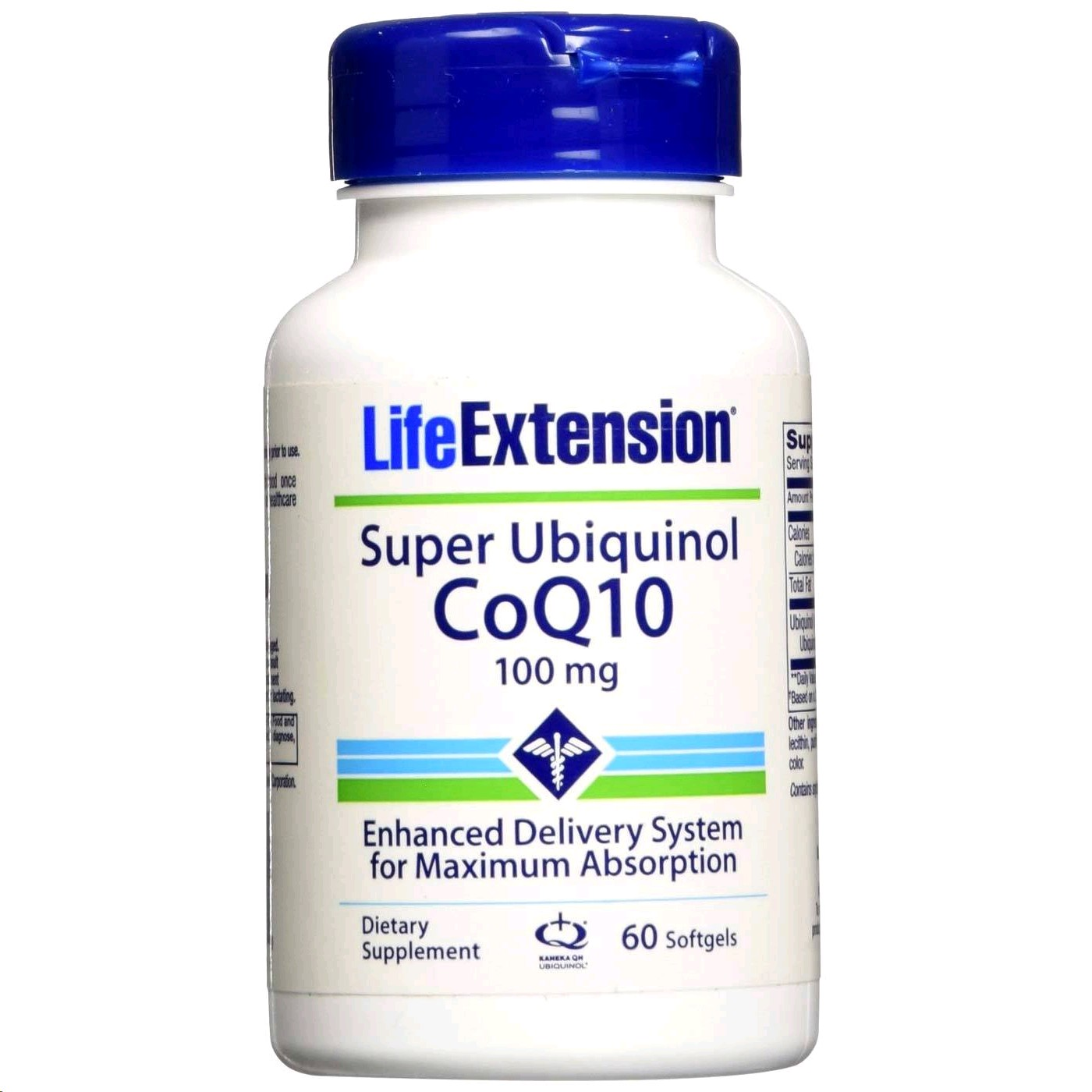 LIFE EXTENSION SUPER UBIQUINOL CoQ10 100MG  60 PERLES