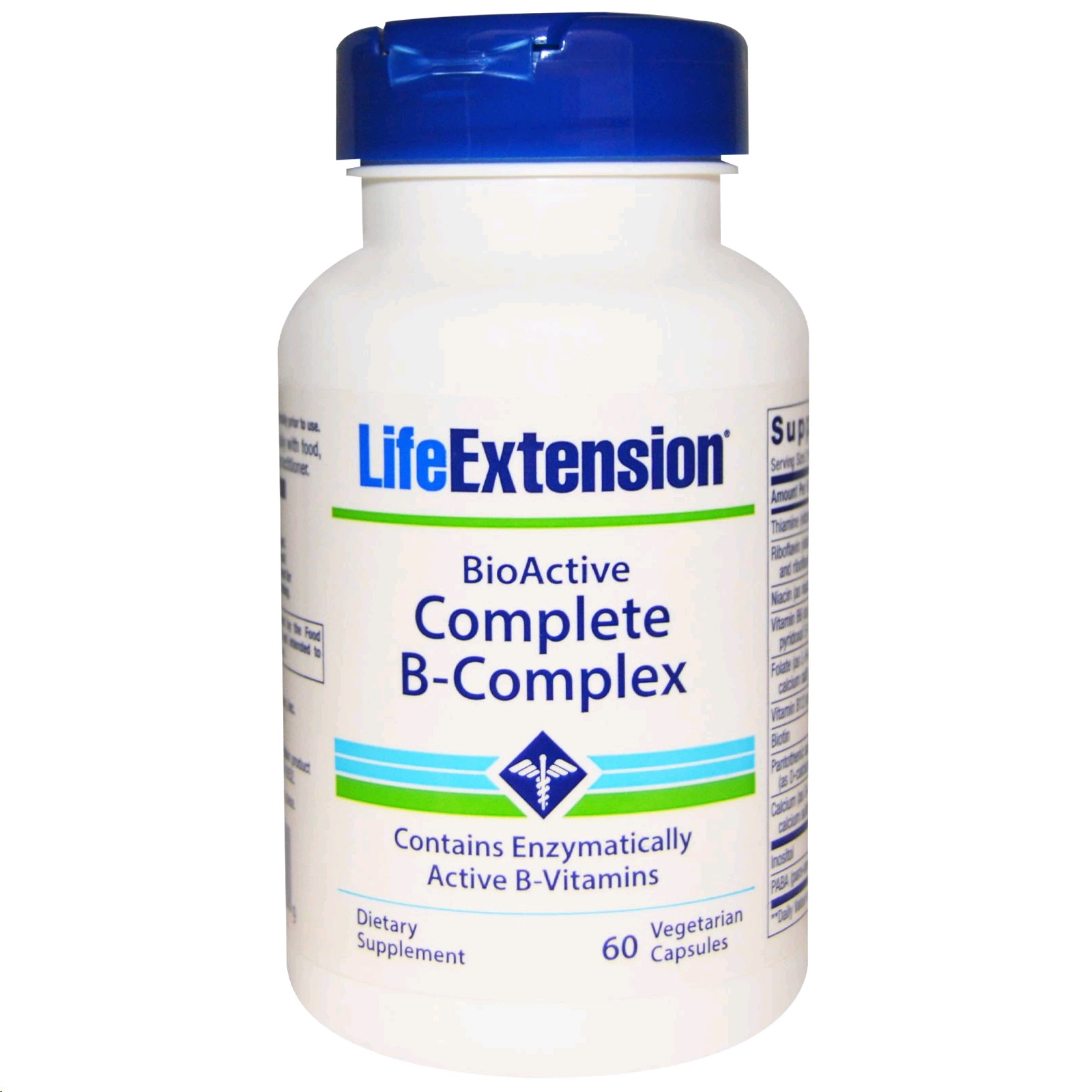 LIFE EXTENSION COMPLETE B-COMPLEX 60 TABLETES
