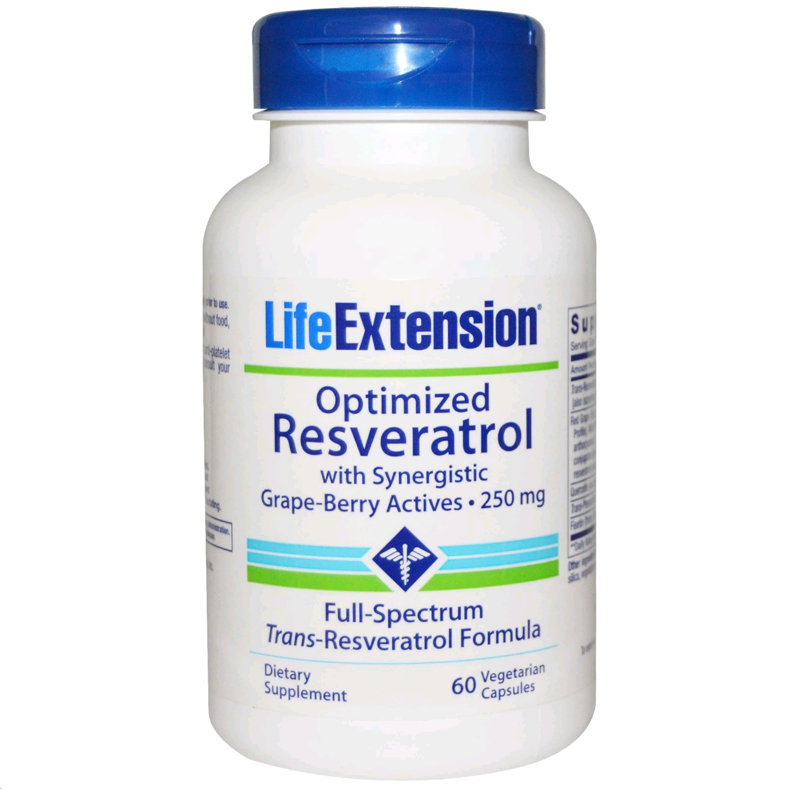 LIFE EXTENSION OPTIMIZED RESVERATROL 250 MG 60 CAPSULES