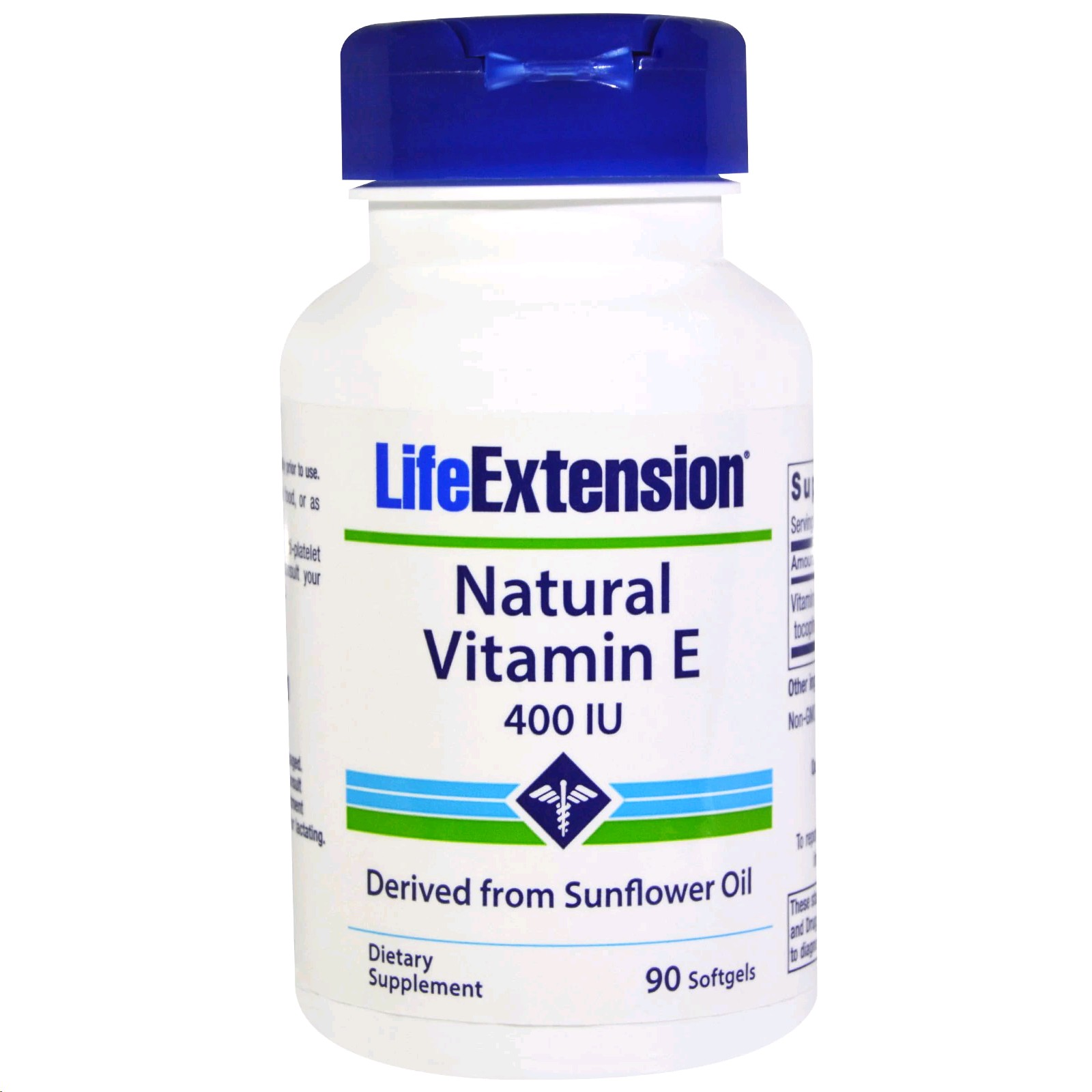 LIFE EXTENSION VITAMINAE 400IU NATURAL 90 CAPSULES
