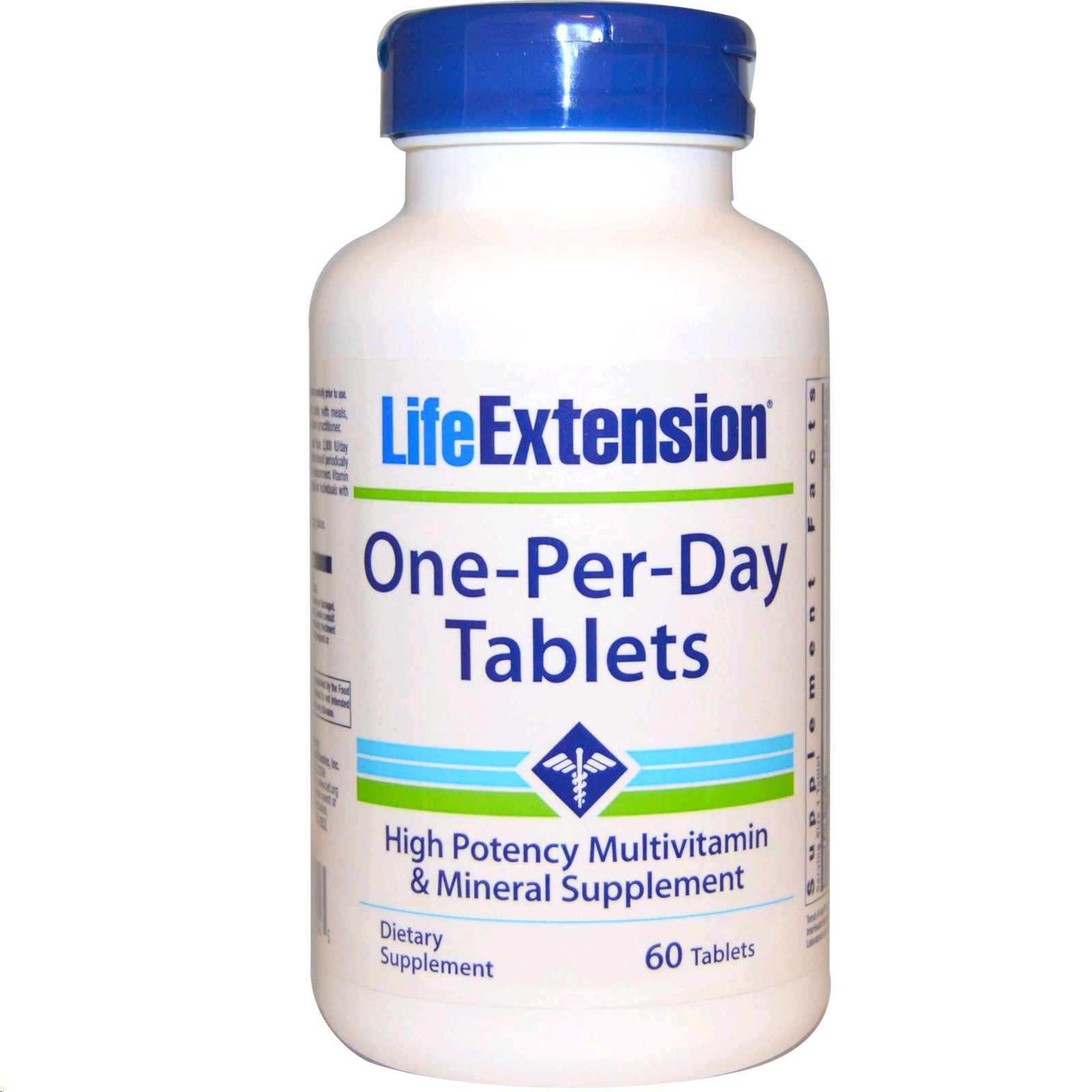 LIFE EXTENSION ONE PER DAY TABLETS 60 CAPSULES